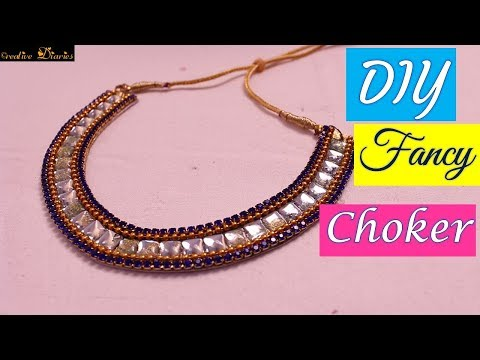 How to make Kundan Necklace at home I Very Easy I Creative Diaries