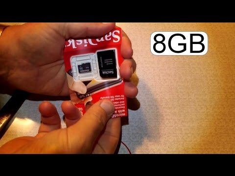 UNBOXING SANDISK MICRO SD CARD 8GB