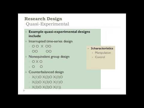Developing a Quantitative Research Plan: Choosing a Research Design