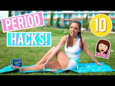 10 Period HACKS Every Girl NEEDS To Know! How to Pamper Yourself On Your Period! | Kristi-Anne Beil