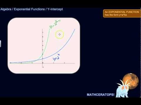 Finding the Y-Intercept of an Exponential Function