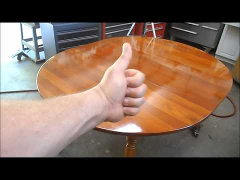 Preparing a Cherry Table Top for Quick Sale