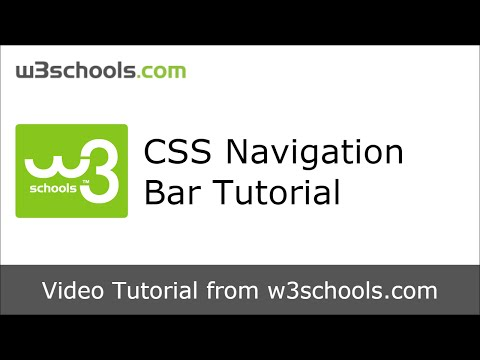 W3Schools CSS Navigation Bar Tutorial
