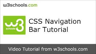W3Schools CSS Navigation Bar Tutorial