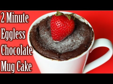 2 Min Eggless Chocolate Mug Cake | Chocolate Mug Cake in Microwave | How to Make Chocolate Cake