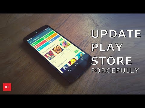 How to update Google play store forcefully if it is not updating