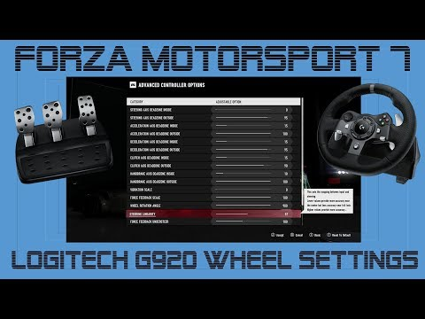 Logitech G920 Settings Forza Motorsport 7