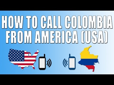 How To Call Colombia From America (USA)