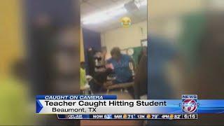 Video shows teacher hitting student