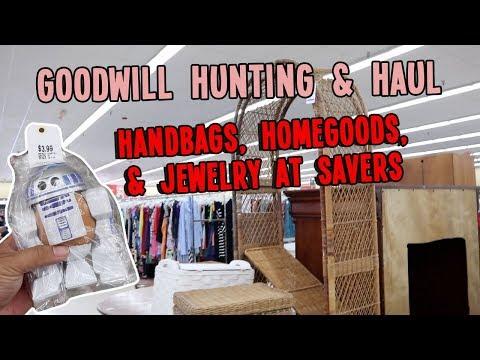 HANDBAGS, HOMEGOODS, & JEWELRY AT SAVERS   GOODWILL HUNTING & HAUL EP. 378