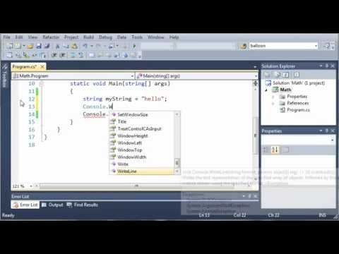 Visual C# 2010 Tutorial 4   More Math And String Concatenation