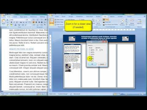 How to add a picture and a caption to your poster presentation