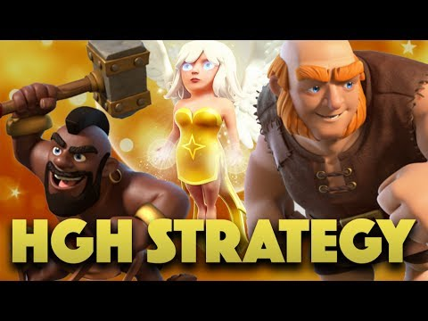HGH Strategy TH9 | Giant Healer Combined W/ Hog Attack | Clash Of Clans