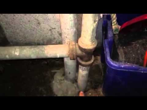 Clogged basement sink fixed saved $$$$
