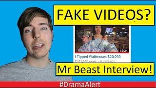 MrBeast Fake Videos? #DramaAlert MrBeast (INTERVIEW!) Deji Interrupts!
