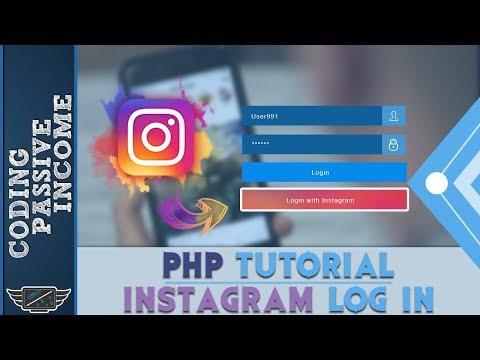 Instagram Login Tutorial Using PHP & Instagram App & API