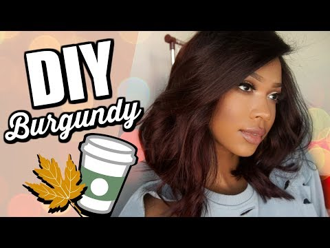 DIY FALL BURGUNDY HAIR | GARNIER X OZOWIGS