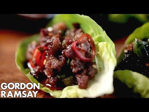 Chilli Beef Lettuce Wraps - Gordon Ramsay
