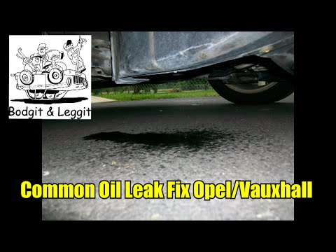 very common oil leak fix in opel/vauxhall bodgit and leggit garage