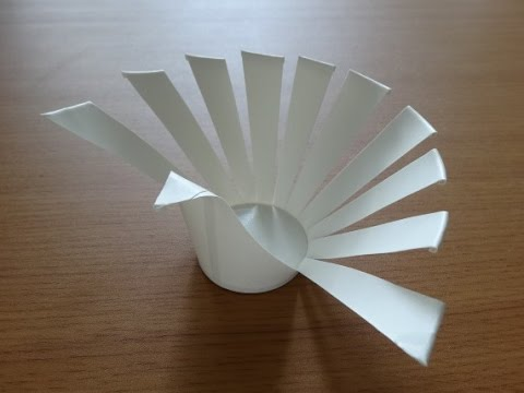 Peacock made of paper cup
