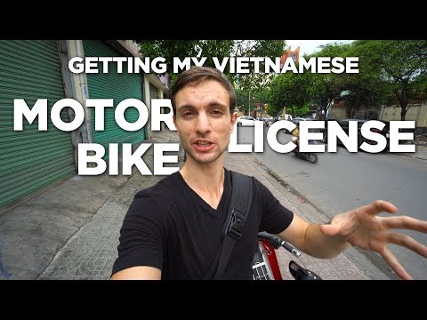 Getting My Vietnamese Motorbike License