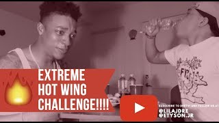 Download EPIC HOT WING CHALLENGE DURING Q & A!!!!!!! (DRE STARTS CRYING😂😂😂!!!) Video