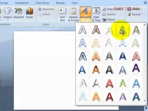 Chèn WordArt trong Powerpoint 2007