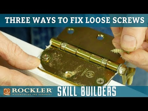 How to Fix Loose Wood Screws | Rockler Skill Builders