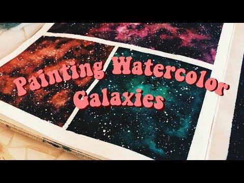 Painting Watercolor Galaxies