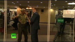 Bodyguard face-off video: Putin