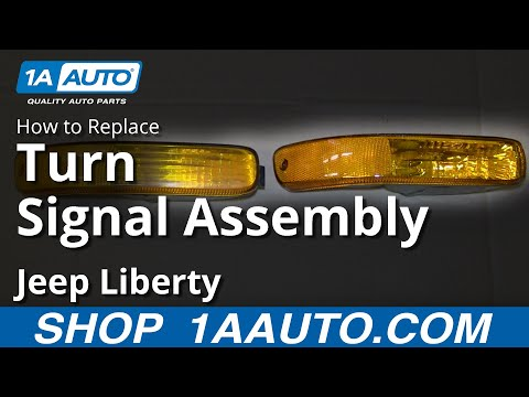 How To Install Replace Broken Front Parking Light 2002-04 Jeep Liberty