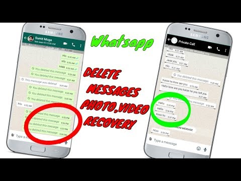 Whatsapp deleted messages, photos &  audio  recovery