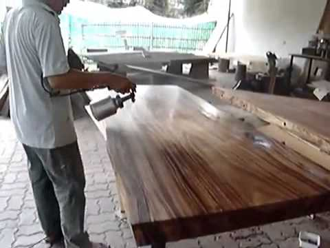 Solid Acacia Wood Round Slab Dining Table Top Reclaimed Wood Custom Made Natural Lacquer Finishing