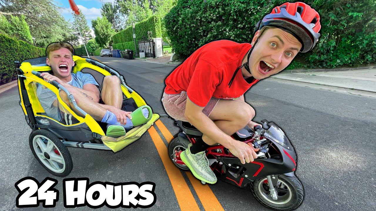 I Drove a mini bike 24hrs Hrs straight through Los Angeles!!