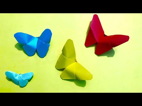 Paper butterfly | How to make butterfly from paper  - DIY paper crafts | cool and creative
