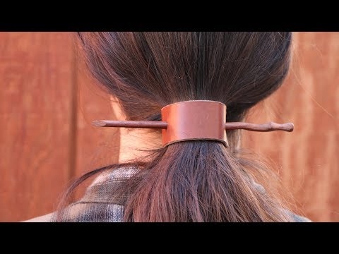 How to Make Leather Hair Barrettes