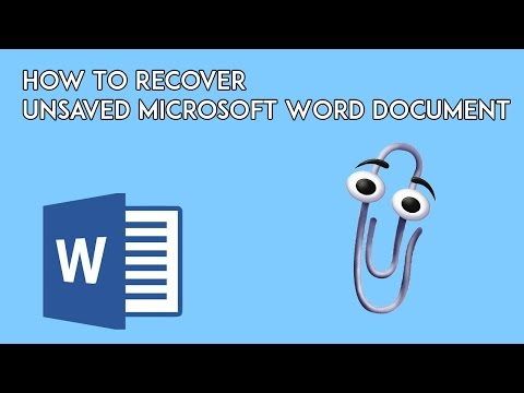 How To Recover Unsaved Microsoft Word Document