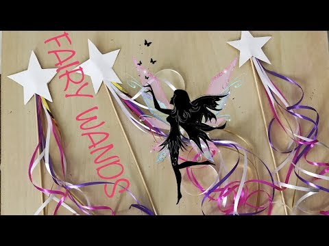 HOW TO MAKE FAIRY WANDS FOR LITTLE GIRLS PARTY
