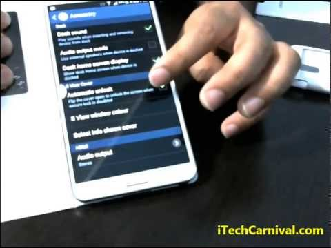 Where is the setting of S View Cover  Samsung Galaxy Note 3