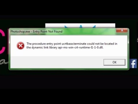 The procedure entry point ucrtbase terminate couldnot be located in dynamic link library-fix problem