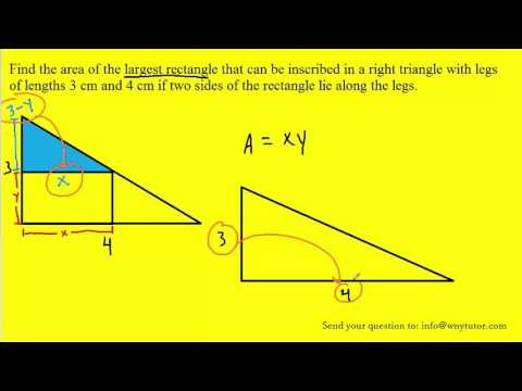 Find the area of the largest rectangle that can be inscribed in a right triangle with legs of length