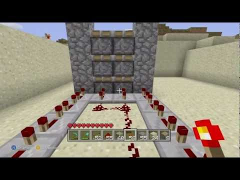 Minecraft (Xbox 360 Edition): Piston Elevator (Up and Down) Tutorial