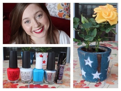 4th of July of Fun! Makeup, Nails, Outfit & a Cocktail! ❀