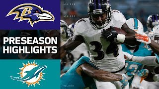 Ravens vs. Dolphins | NFL Preseason Week 2 Game Highlights