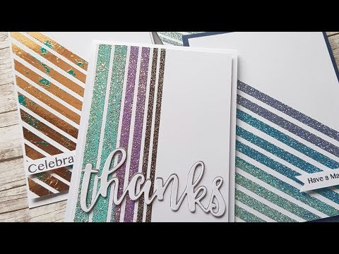 Tutorial - Making Easy Handmade Cards With Double Sided Tape