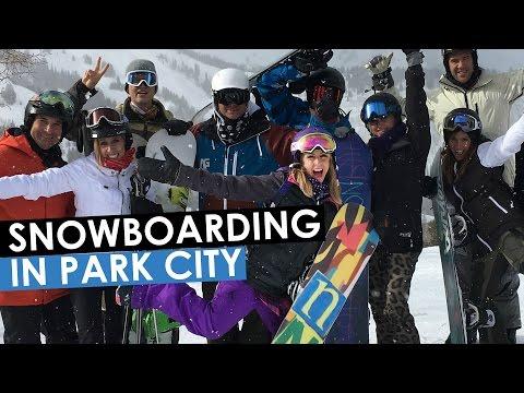 Snowboarding in Park City, Utah with Chalene Johnson
