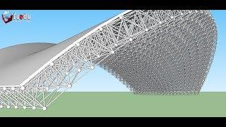 Teach how to model a space frame using SketchUp - Dựng giàn không gian Sketchup