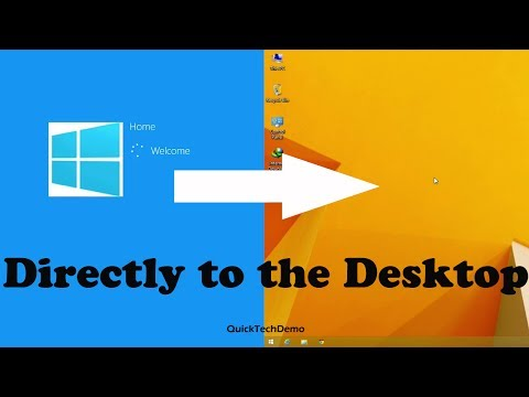 How to Boot Directly to the Desktop in Windows 8.1
