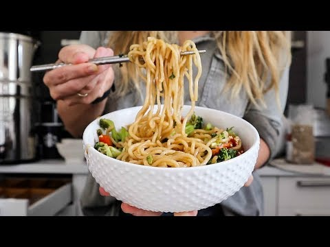 HEALTHY CHINESE TAKEOUT / VEGAN LO MEIN & DUMPLINGS