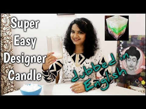 Super Easy Designer Chunk Candle | Layered Candle | Scratch Candle